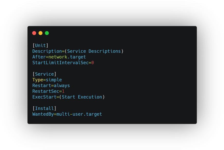 Service code template