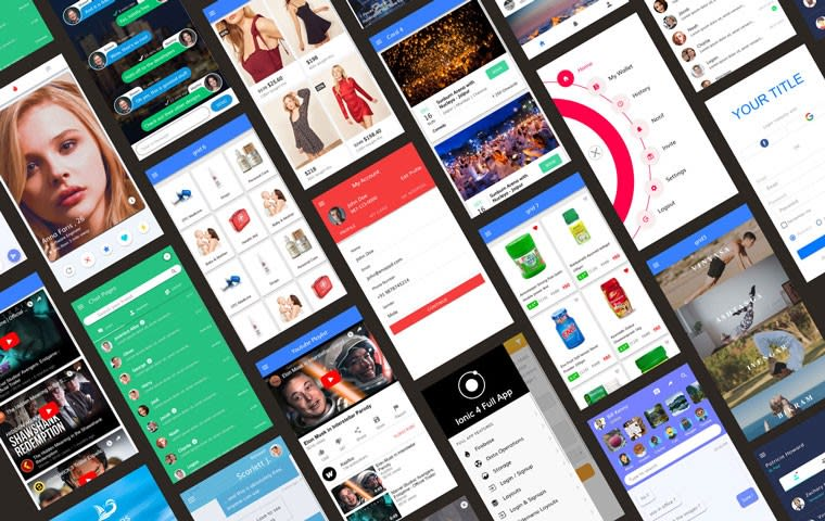 Ionic 4 Full App with huge number of layouts and features