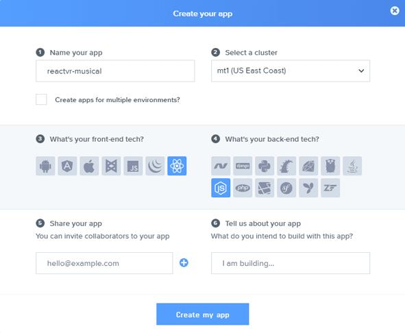 Create Pusher App