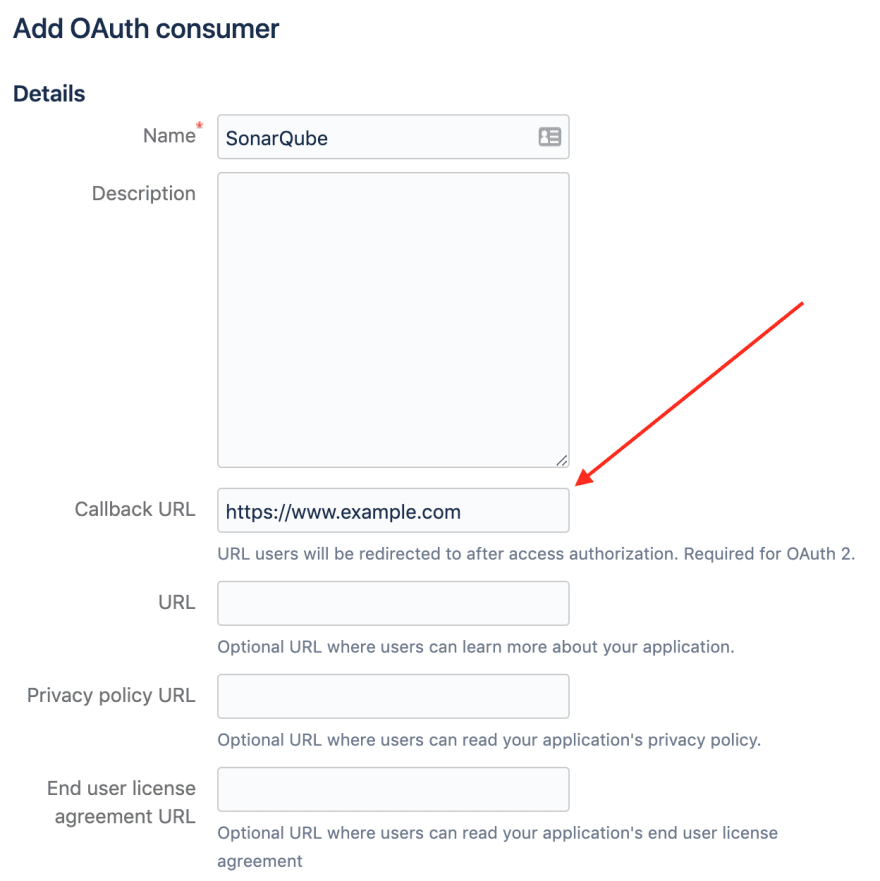 Bitbucket OAuth Consumer Callback URL