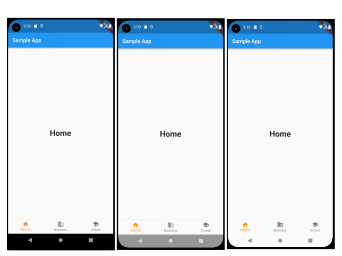 Android Full Screen Changes