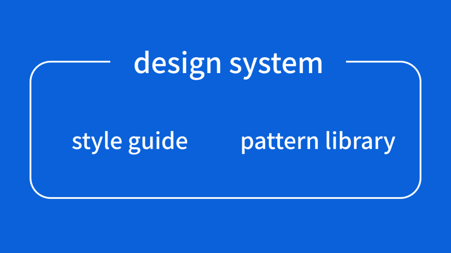 Illustration of the design system including style guides and pattern libraries