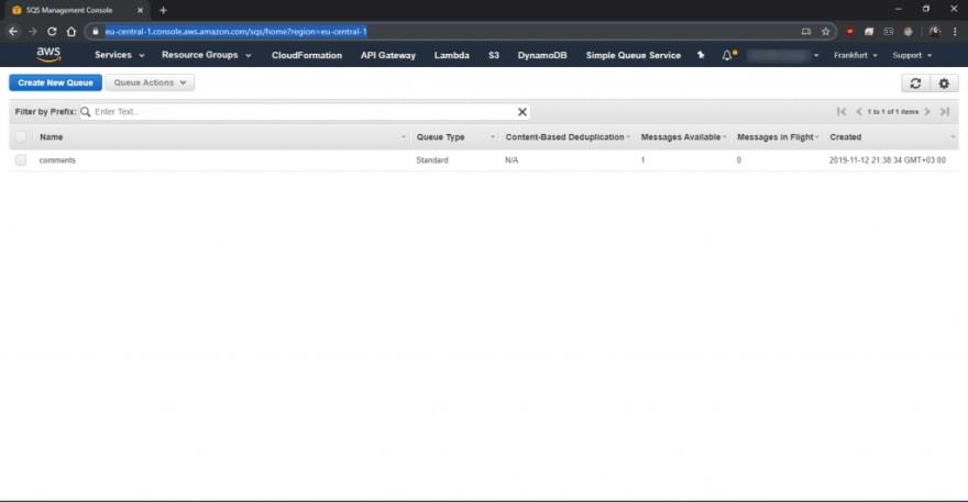 Serverless API SQS