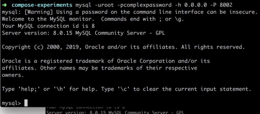 Connect To Mysql In Docker