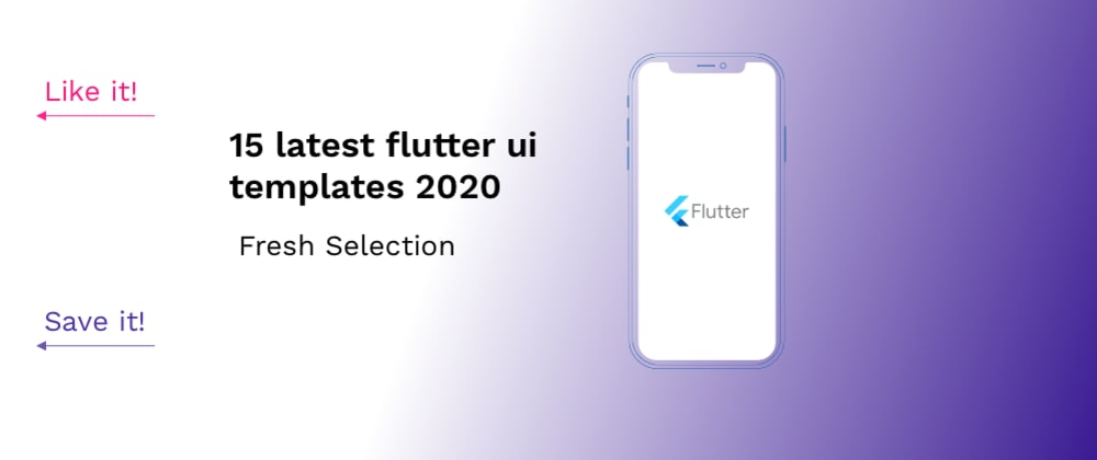 Cover image for 15 latest flutter UI templates