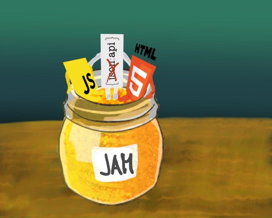 Jamstack = JS + API + Markup