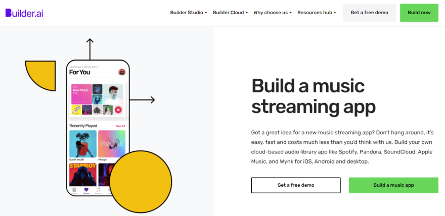 Builder Music Streaming App