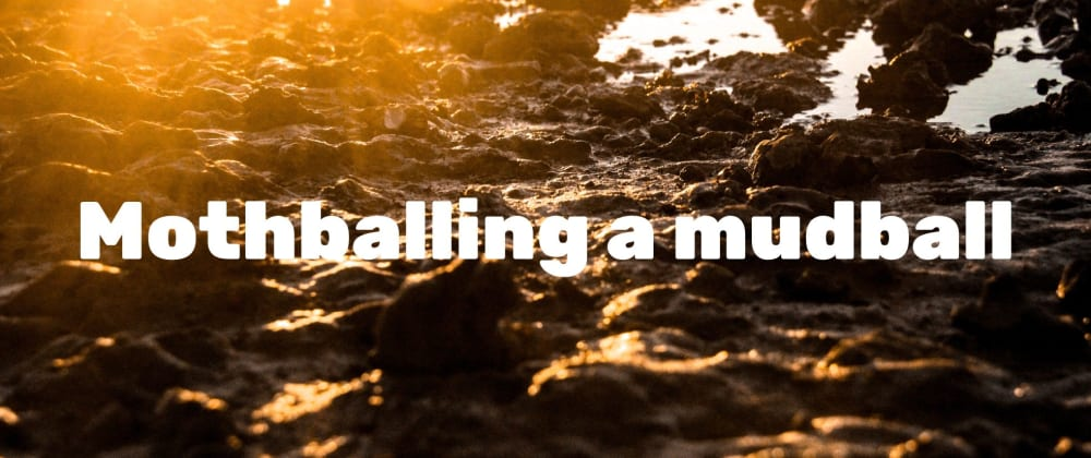 Cover image for Mothballing a mudball (or, how I moved from custom software to Jekyll)