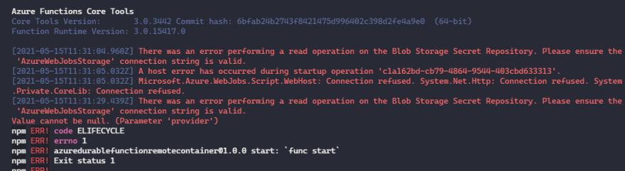 Dev Container error