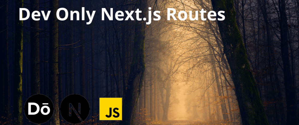 Cover image for Dev Only Next.js Routes