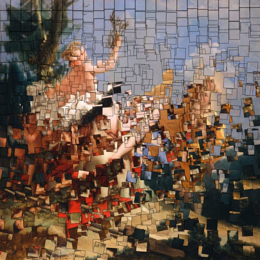 Pixelated mythology work