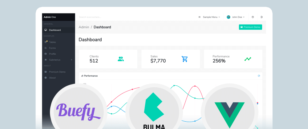 Cover image for Free Vue.js Bulma Admin Dashboards 2020