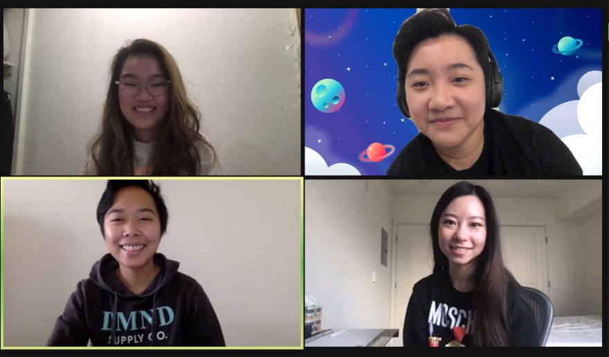 Zoom call screenshot 4 people
