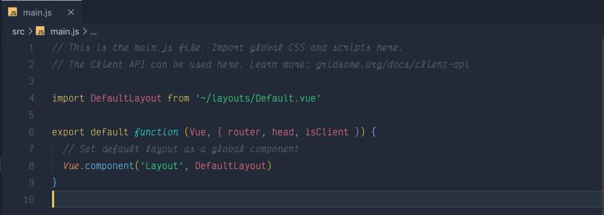 Main.js file