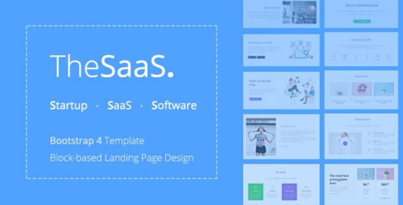 TheSaaS Bootstrap Template