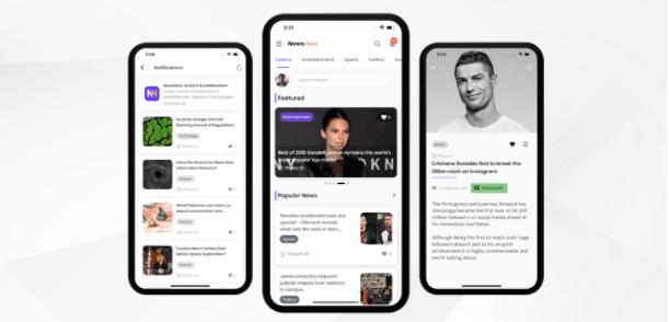News Hour – Flutter News App with Admin Panel best flutter app templates.