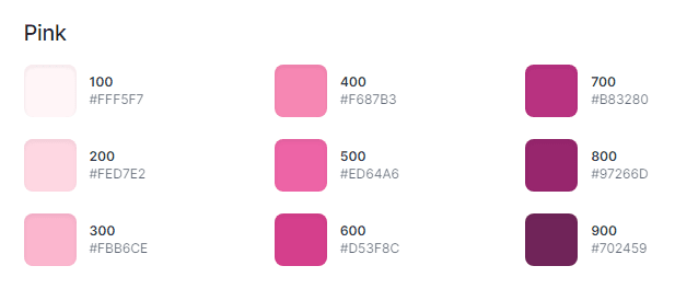 Pink palette used in IS ! MY BUG
