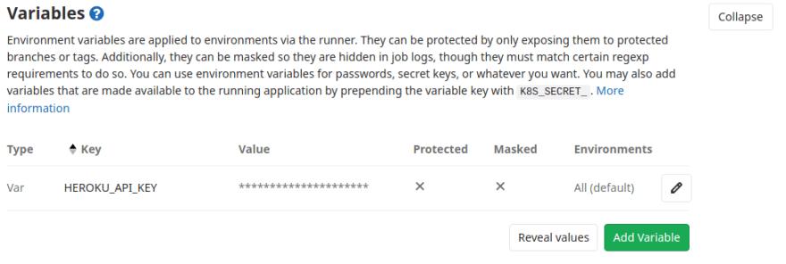 Heroku API Key
