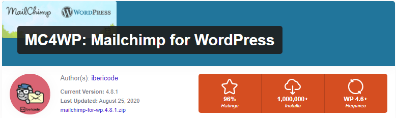 "Install ""MailChimp for WordPress"" plugin"