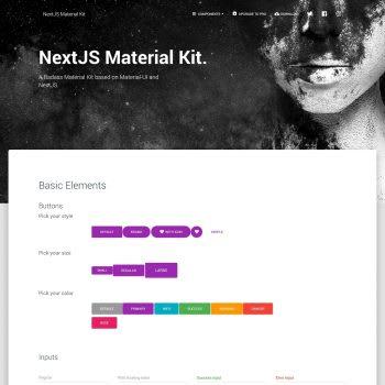 Free Nextjs Material Kit