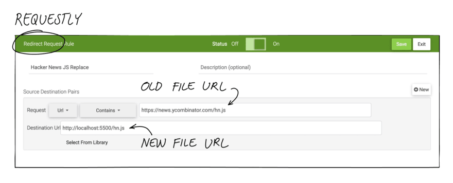 Debugging a live site by replacing remote files with local