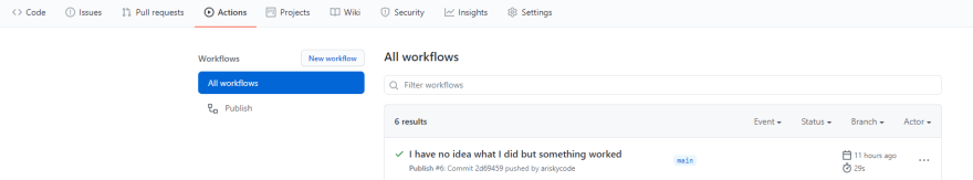 Github Actions Workflows