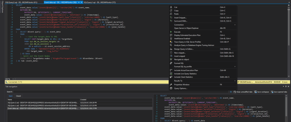 Cover image for Dark theme in SQL Server Management Studio