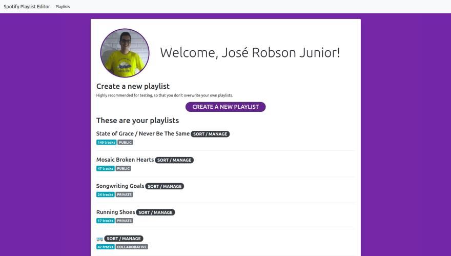 Spotify Playlist Editor