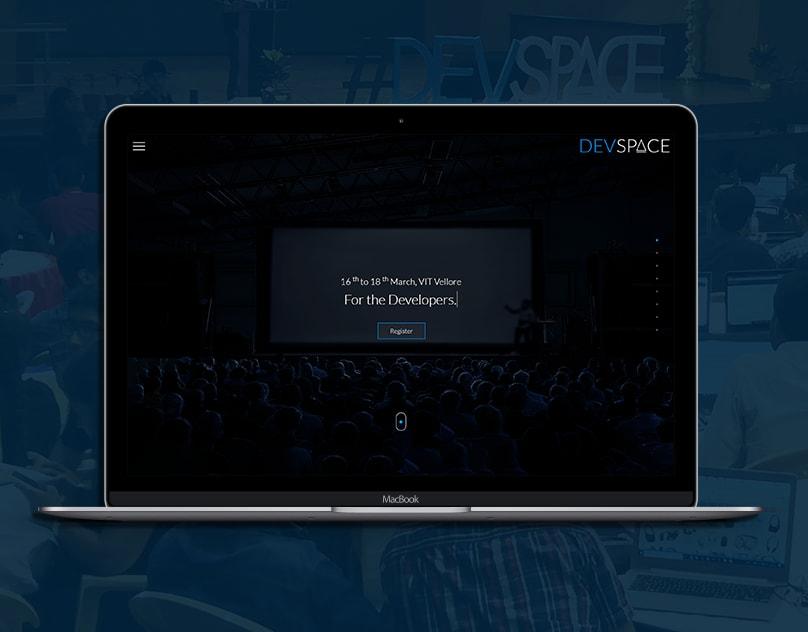 Devspace 2018 website landing page