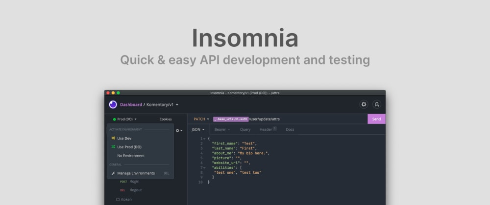 Cover image for 🏄♂️ Insomnia: Quick & easy API development and testing