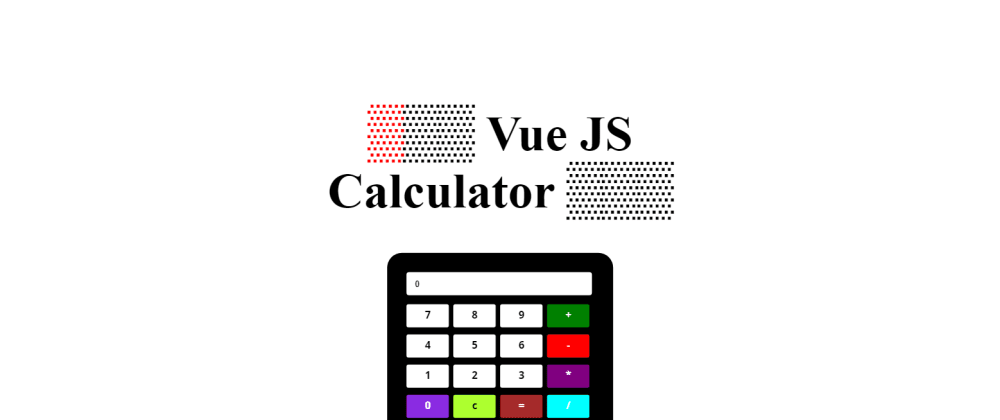 Cover image for ▒Vue Js Simple Calculator▒