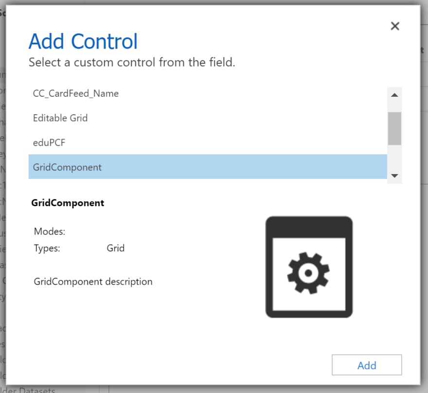 Custom Control Select