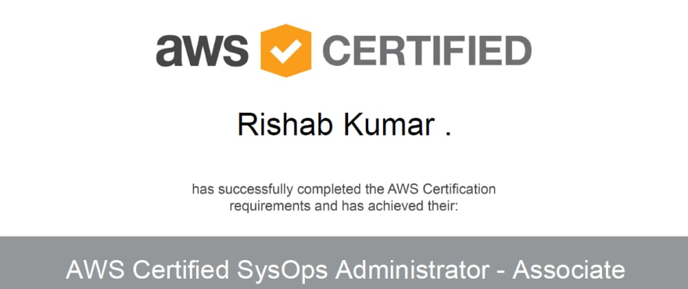 Cover image for How I got AWS Certified SysOps Administrator in 2 weeks ☁