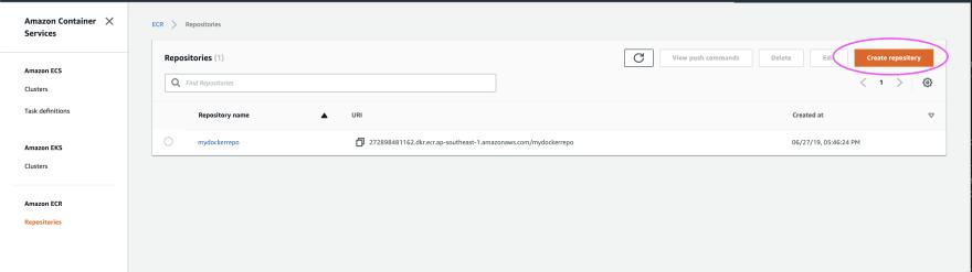 Deploy Rails in Amazon ECS: Part 2 - Push an image to ECR