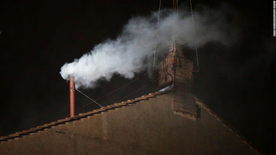 CNN: new pope smoke