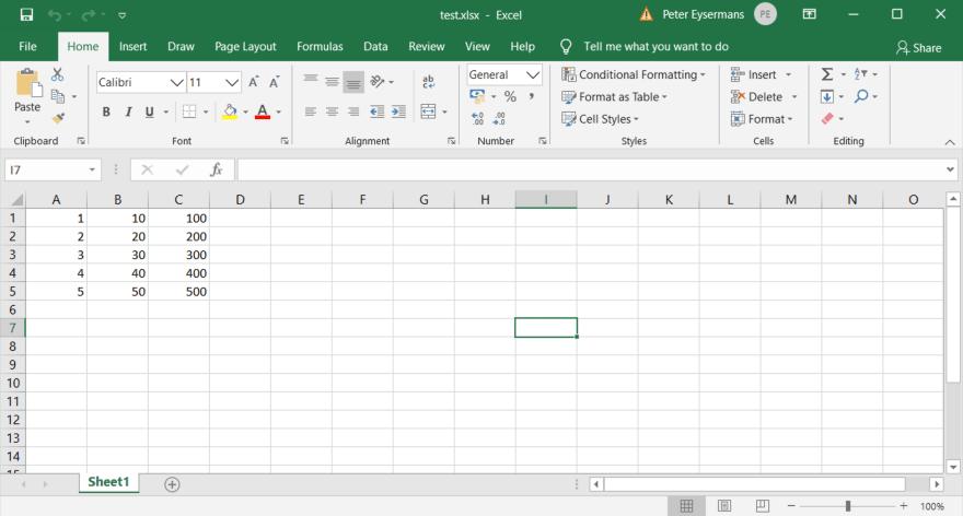 Write To Excel Using Range