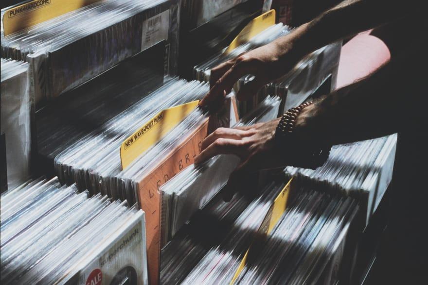 Vinil albums store