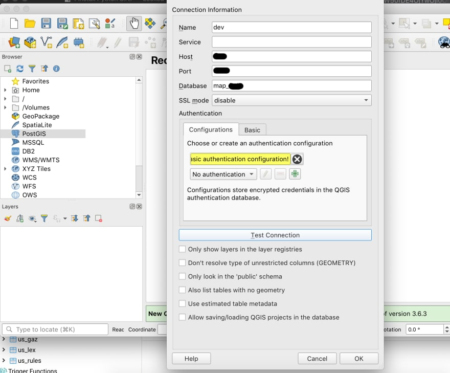 Installing PostGis and QGis, first GeoDataBase and Simple Insert