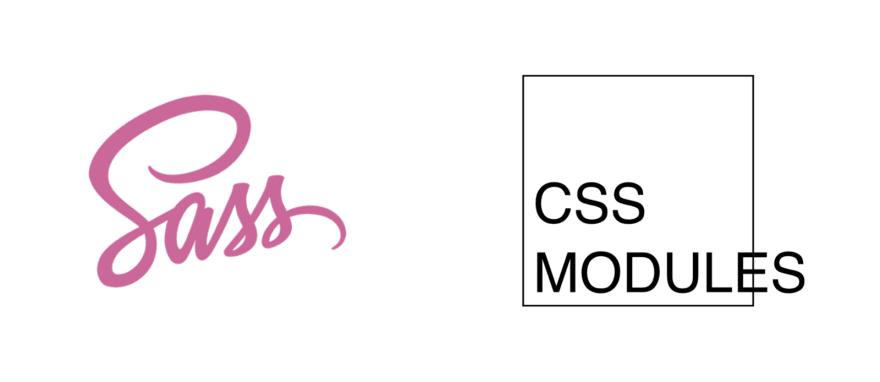 Sass and CSS Modules logos