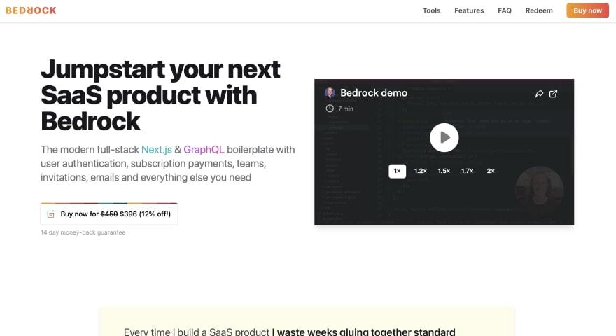 Bedrock Homepage