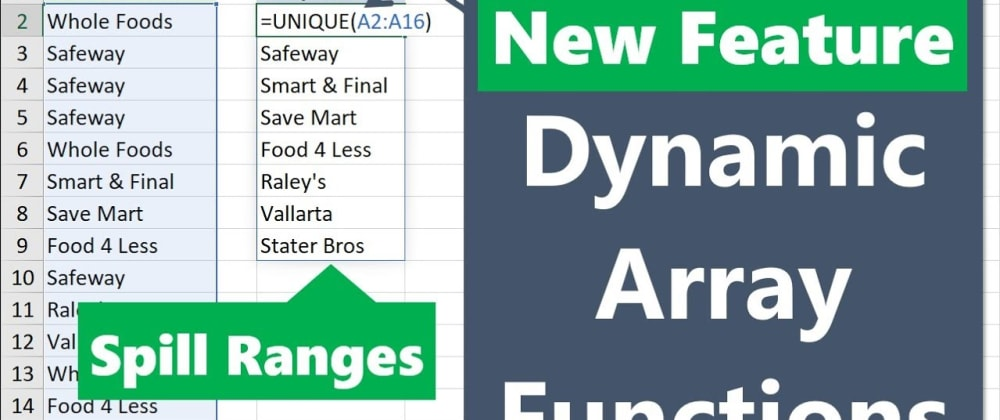 Cover image for Dear Analyst #29: Working with dynamic array functions and formulas that spill
