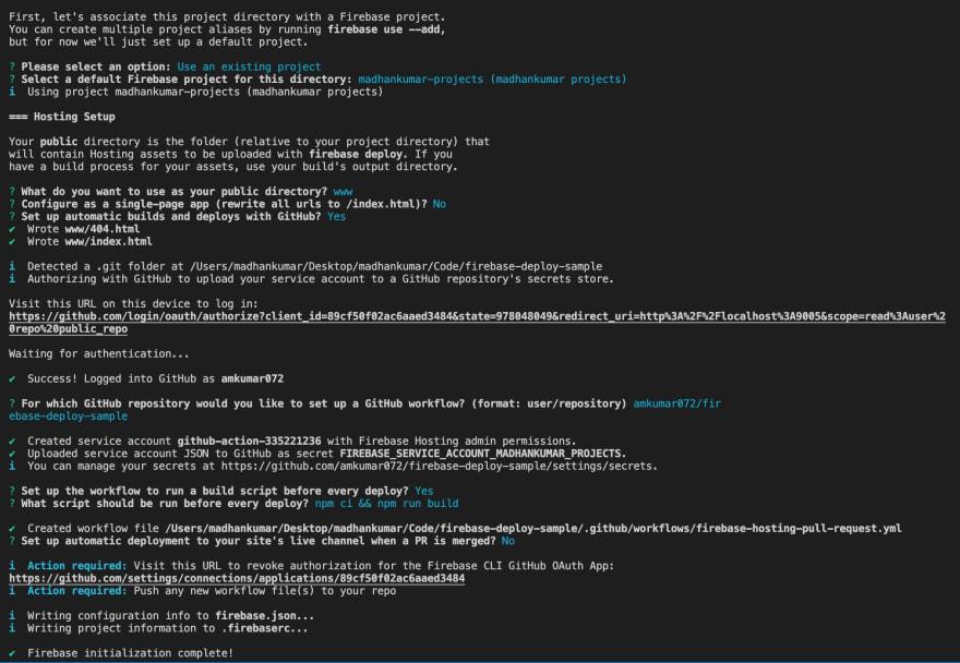 Firebase commands