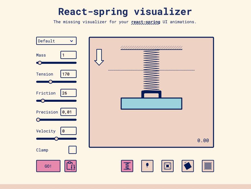 UI of React-spring visualizer