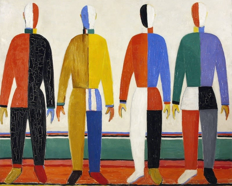 "Kazimir Malevich, ""Athletes"" (1932)"