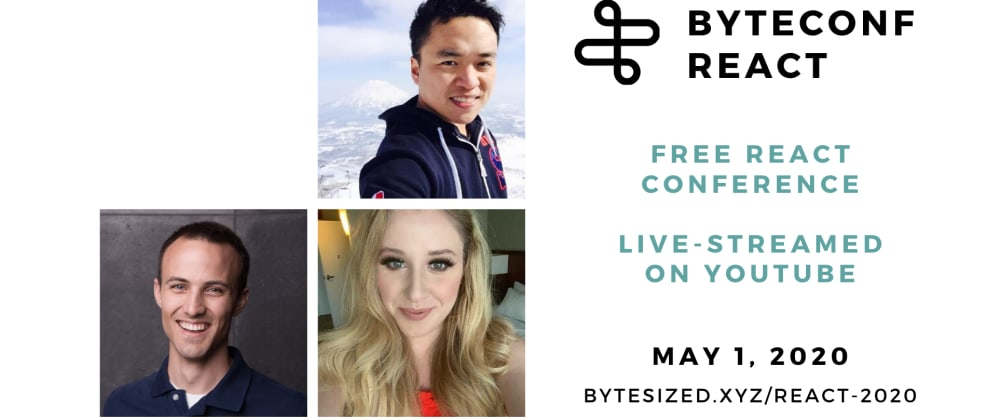 Cover image for Announcing our first set of speakers for our free, remote React conf