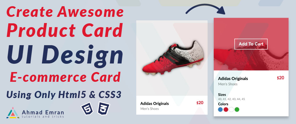 Cover image for Create Awesome Product Card | UI Design | E-commerce Card | Using Only Html5 & CSS3