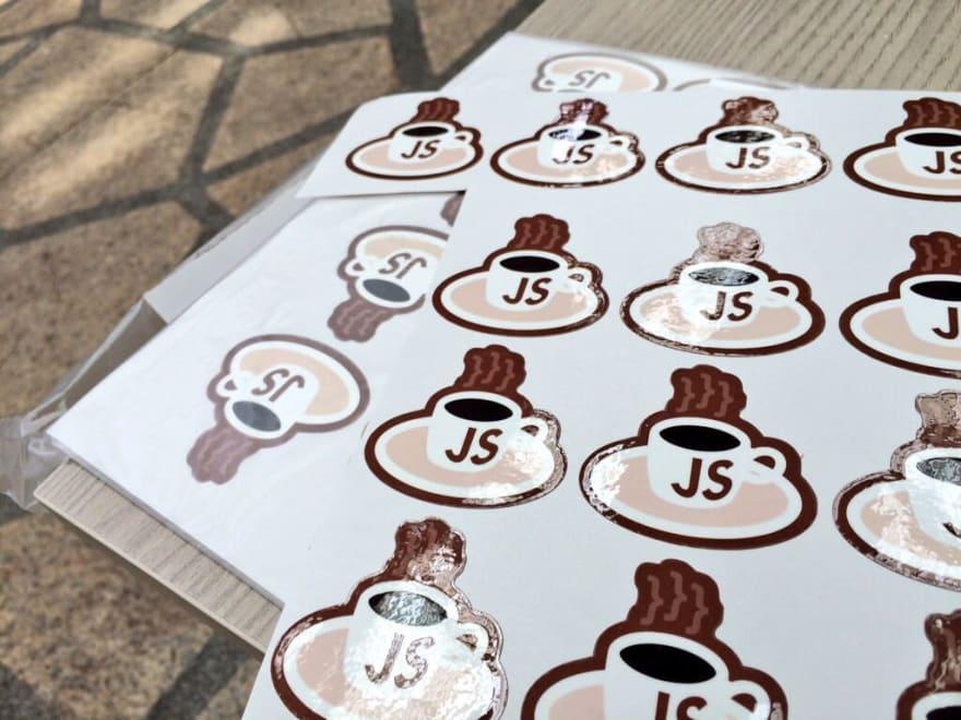 KopiJS stickers, from Onedayprint