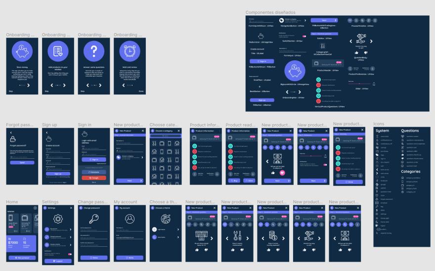 Prototype of my entire app