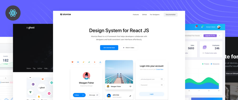 Cover image for 35+ Free React templates and themes