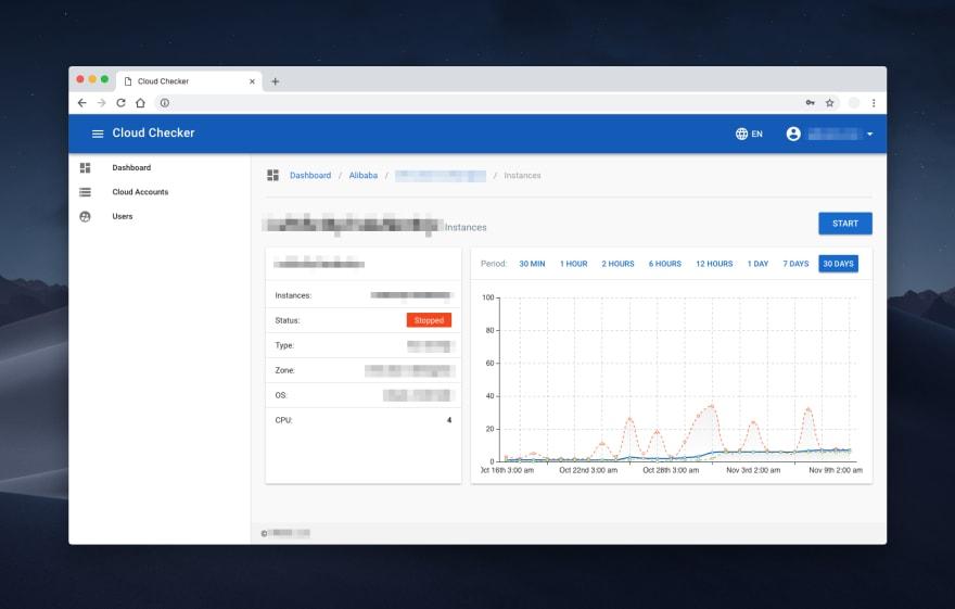 cloud service saving app development vue js